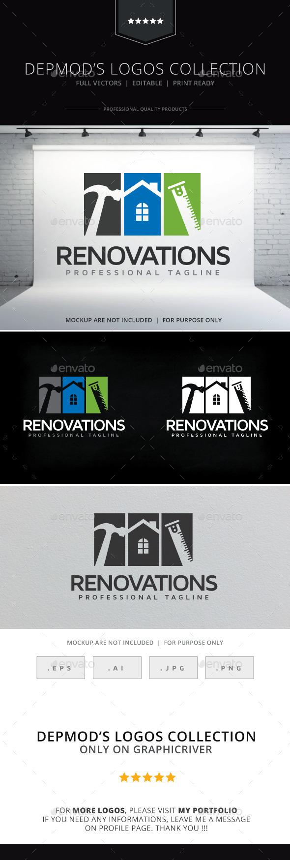 Renovations Logo - Objects Logo Templates