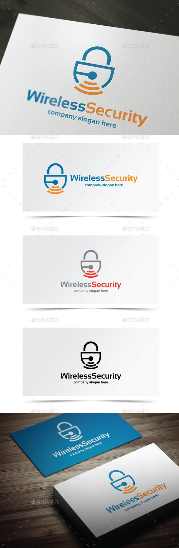 Wireless Security - Objects Logo Templates