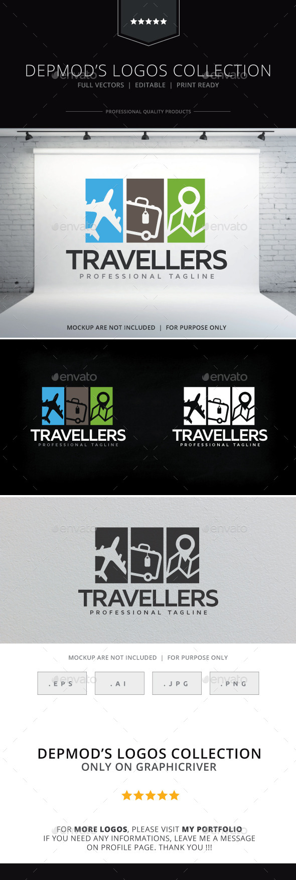 Travellers Logo - Objects Logo Templates