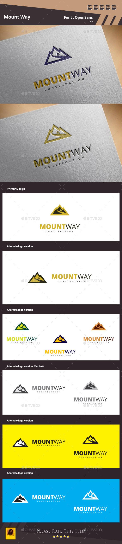 Mount Way Construction  - Buildings Logo Templates