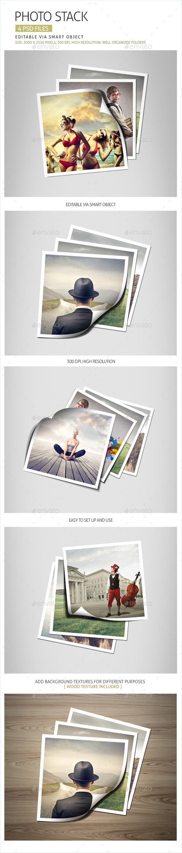 Photo Stack - Photo Templates Graphics