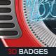 3D Retro Badges - GraphicRiver Item for Sale