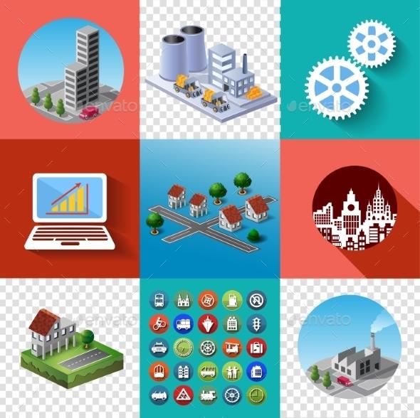 Buildings Set - Buildings Objects