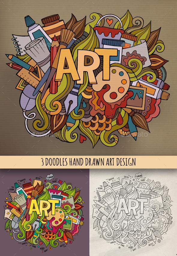 3 Art Doodles Design - Miscellaneous Conceptual