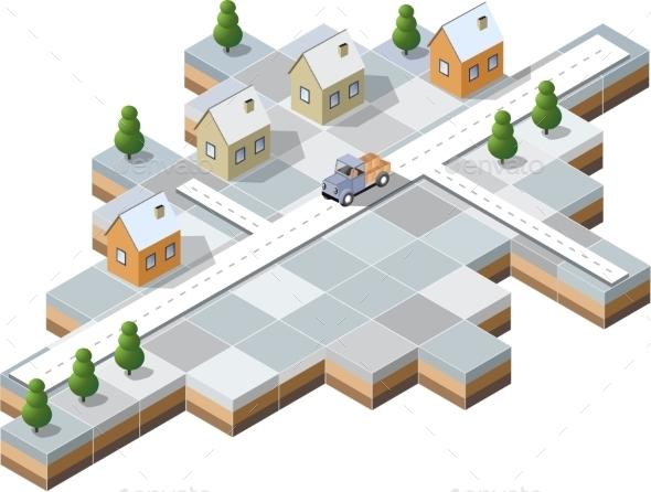 Snowy Village - Buildings Objects