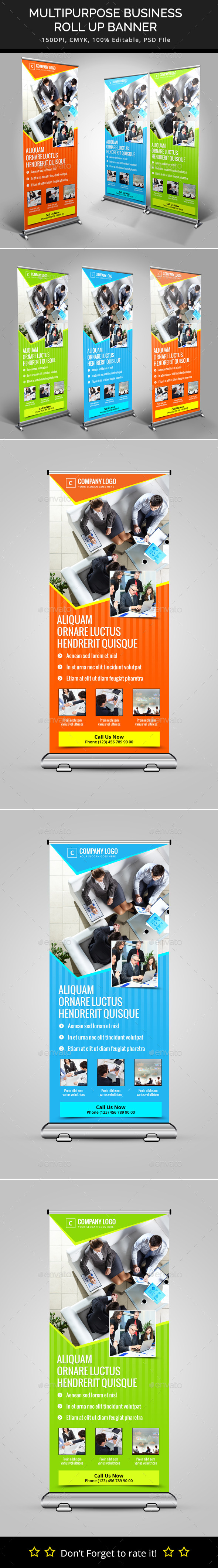 Multipurpose Business Roll Up Banner - Signage Print Templates
