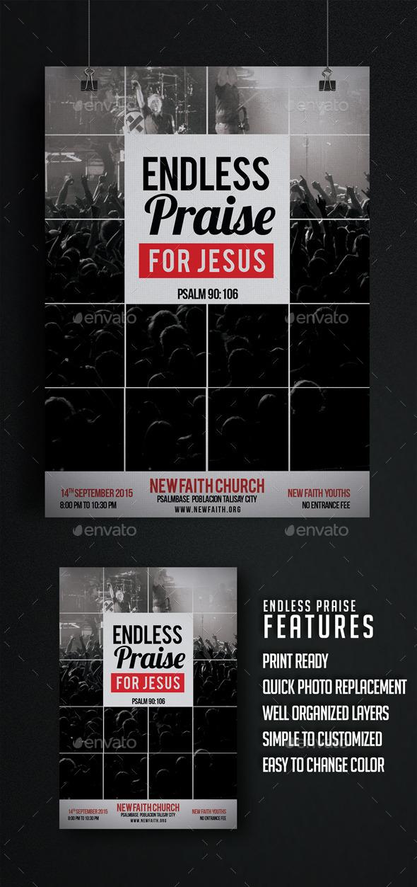Endless Praise Church Flyer - Church Flyers
