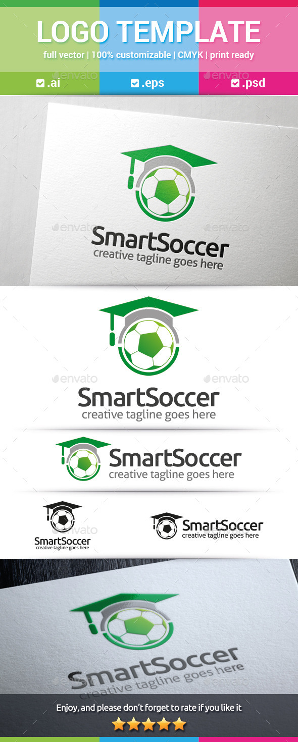 Smart Soccer Logo - Objects Logo Templates