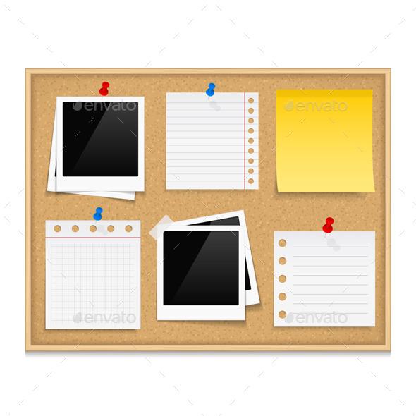 Bulletin Board - Objects Vectors