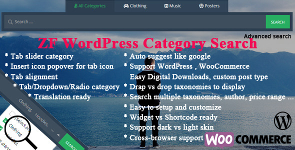 ZF WordPress Category Search - CodeCanyon Item for Sale