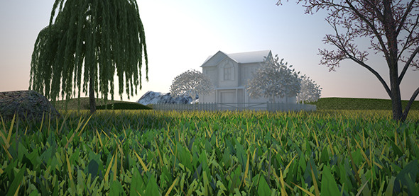 COMPLETE Environment + Grass Vray C4D - 3DOcean Item for Sale