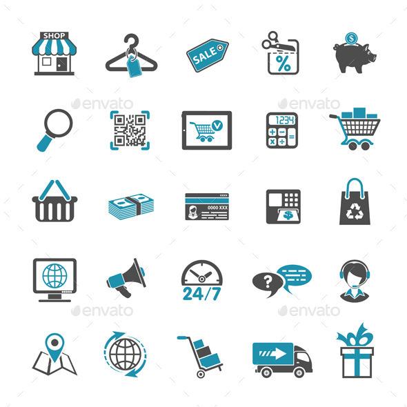 Shopping Icon Set - Web Technology