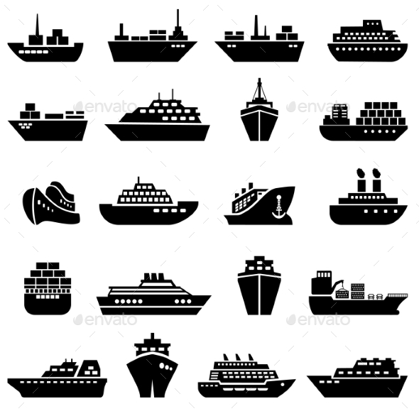 Ship and Boat Icon Set - Objects Icons