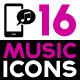 Set of Music Related Icons - GraphicRiver Item for Sale