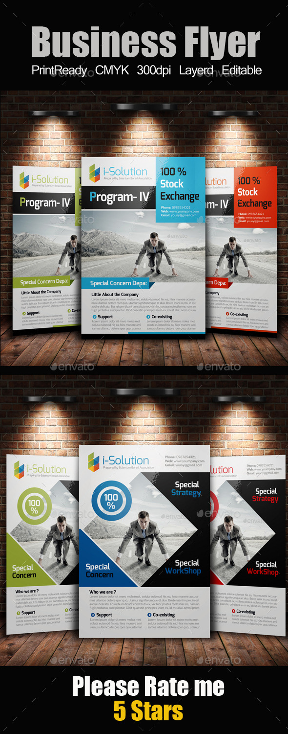 A4 Multi Use Business Flyer Bundle - Corporate Flyers