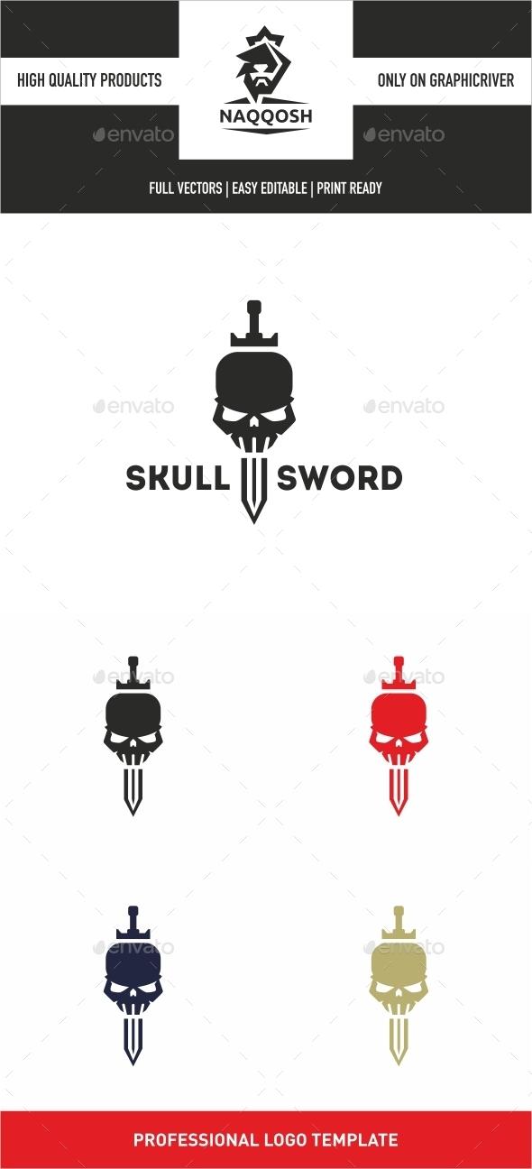 Skull Sword - Logo Templates