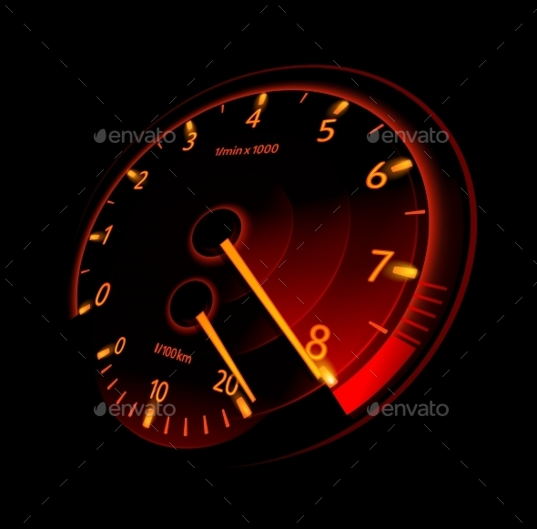 Tachometer - Backgrounds Decorative