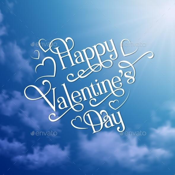 Happy Valentine's Day Sky Background - Valentines Seasons/Holidays