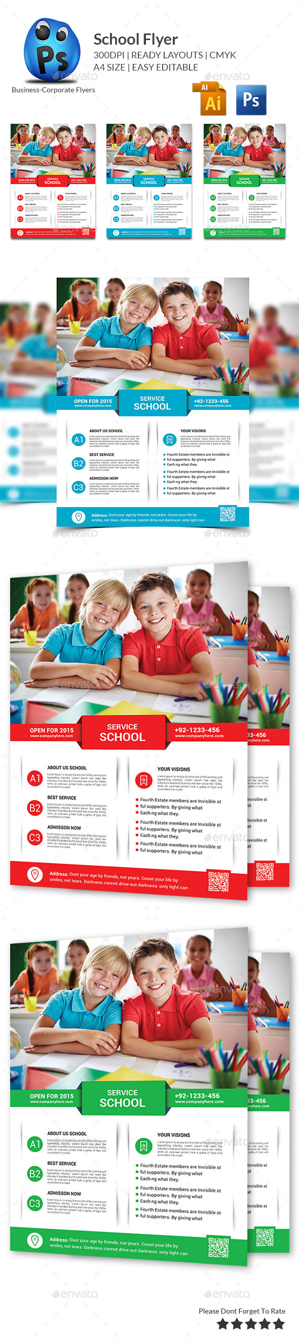 School Education Flyer Template - Corporate Flyers
