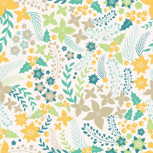 Flower Seamless Pattern - Flowers & Plants Nature