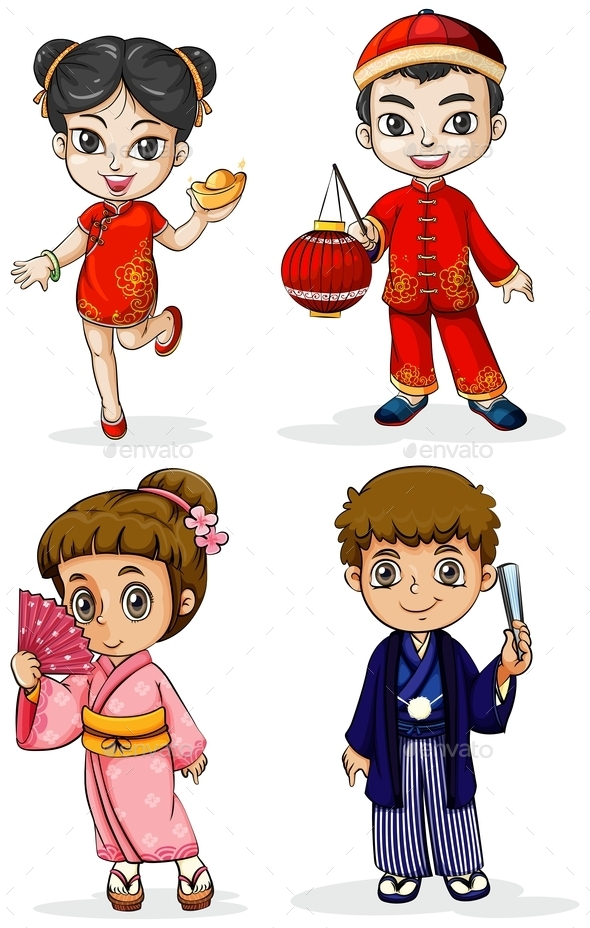 Asian People - People Characters