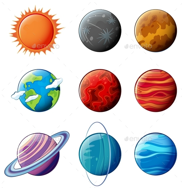 Planets of the Solar System - Nature Conceptual