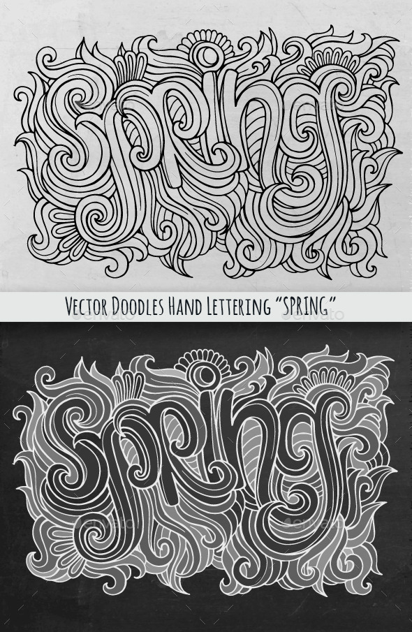 Spring Hand Lettering - Miscellaneous Seasons/Holidays