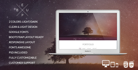 BeUp – One Page Multi Purpose Modern HTML Template