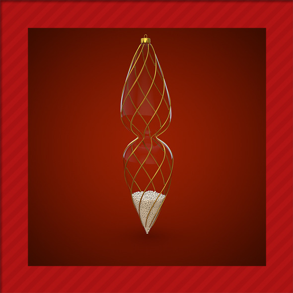 HiRes Christmas Decoration 2 - 3DOcean Item for Sale