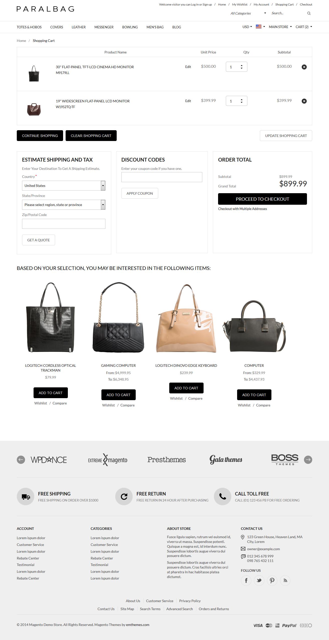 af6053cc2318 Responsive Magento Themes - Parallax Handbags Bags Store by tvlgiao