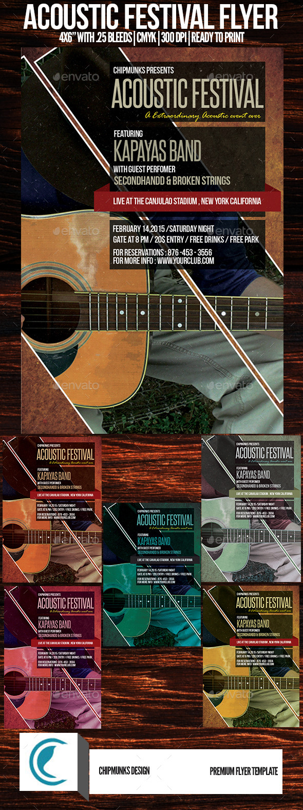 Acoustic Festival Flyer - Concerts Events