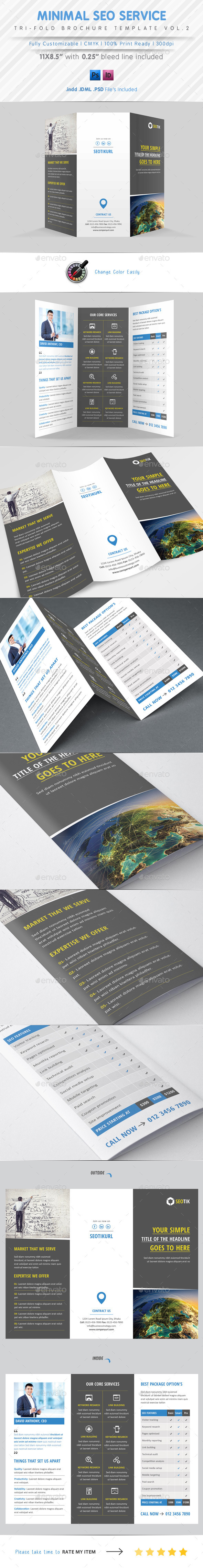 SEO Service Tri Fold Vol.2 - Corporate Brochures
