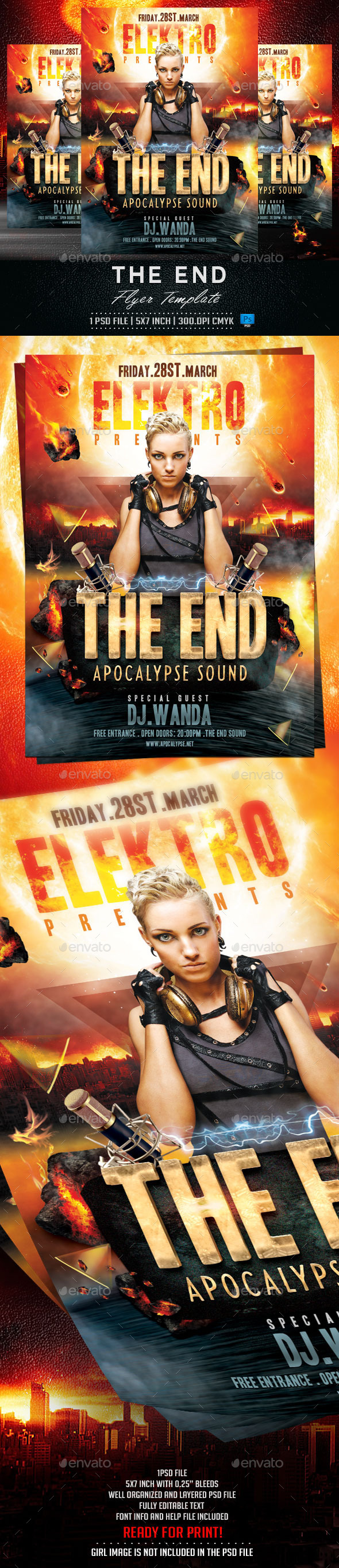 The End Flyer Template - Clubs & Parties Events