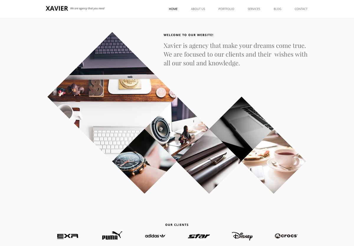 Xavier Portfolio And Agency Wordpress Theme By Pego