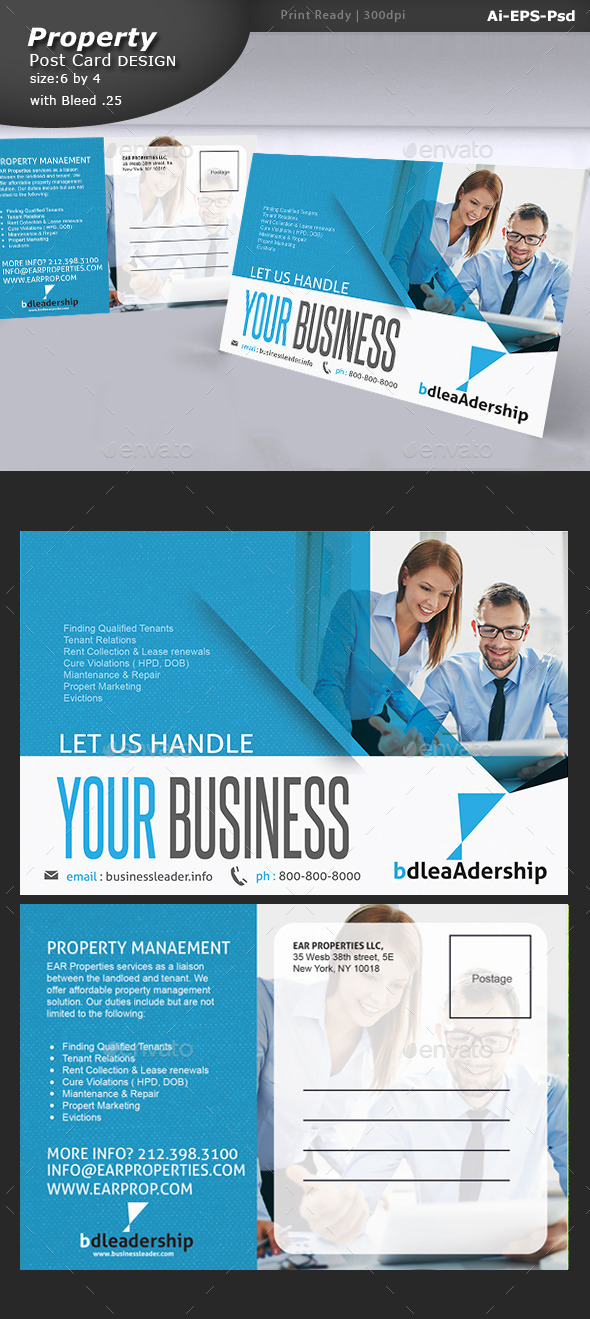 Business Post Card Design  - Corporate Flyers