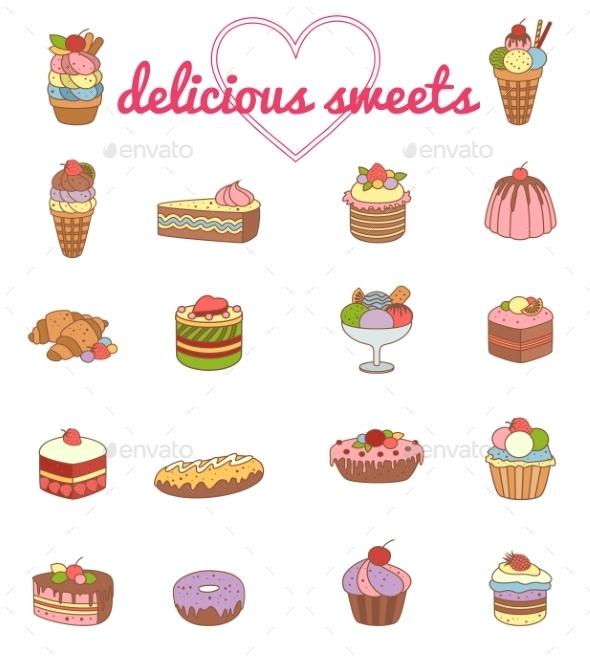 Dessert Vector Set - Birthdays Seasons/Holidays