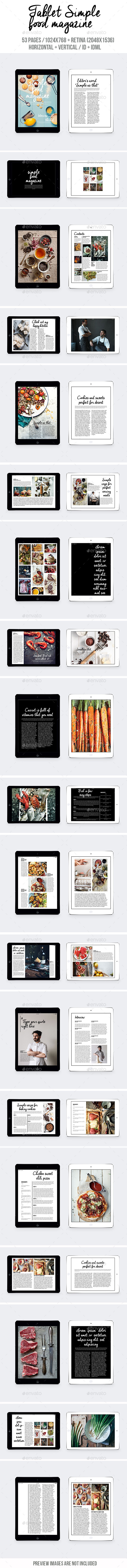 Tablet Simple Food Magazine - Digital Magazines ePublishing