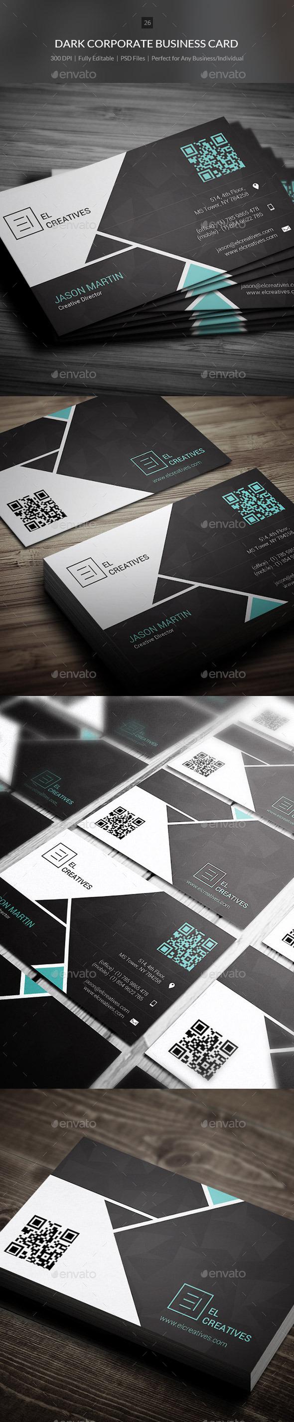 Dark Corporate Business Card - 26 - Corporate Business Cards