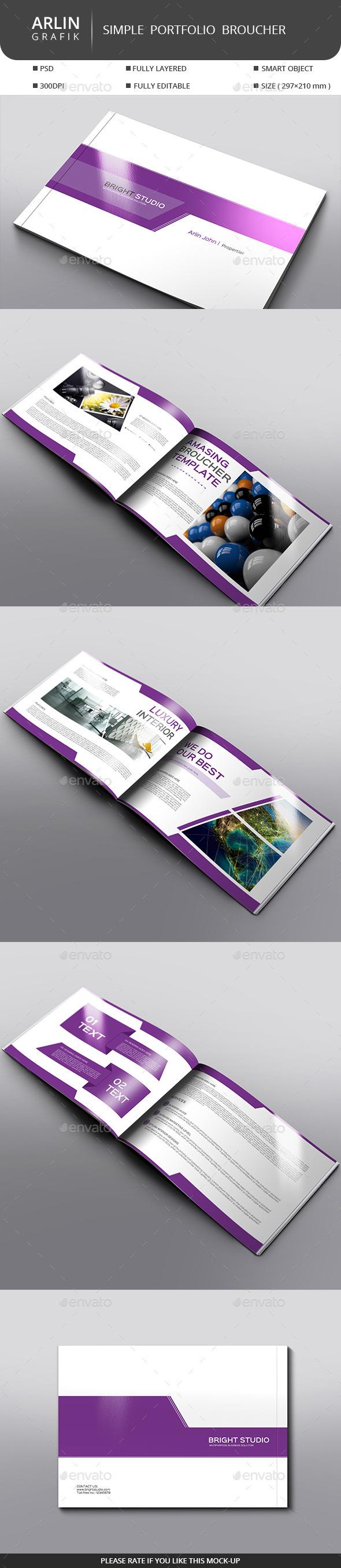 Simple Portfolio V 01  - Portfolio Brochures