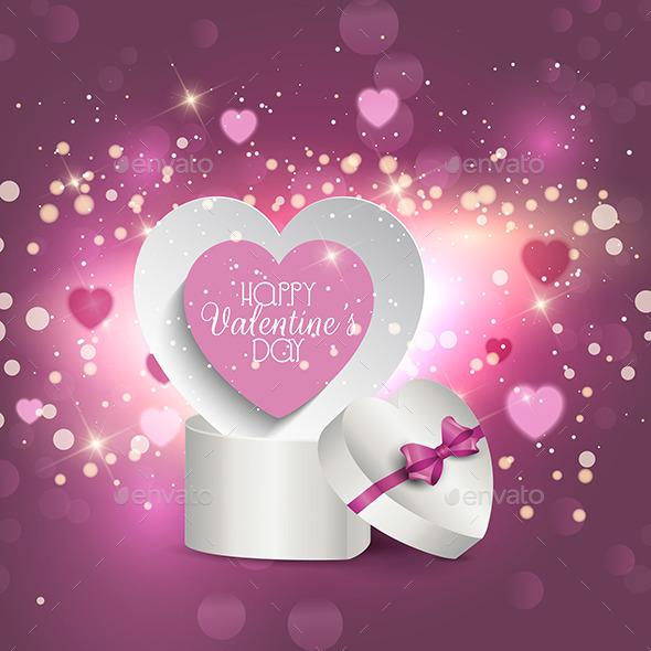 Valentine's Gift Box Background - Valentines Seasons/Holidays