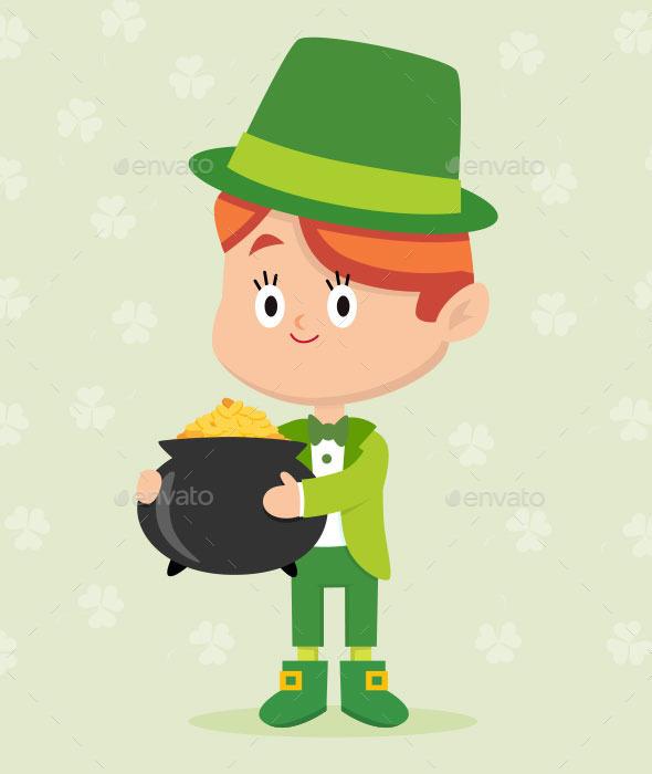 Leprechaun Character Pose - People Characters