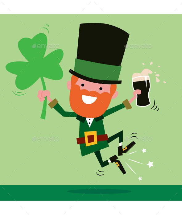 Leprechaun Celebrating St Patrick's Day - People Characters