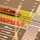 Model Train Moving on the Layout of the City - VideoHive Item for Sale