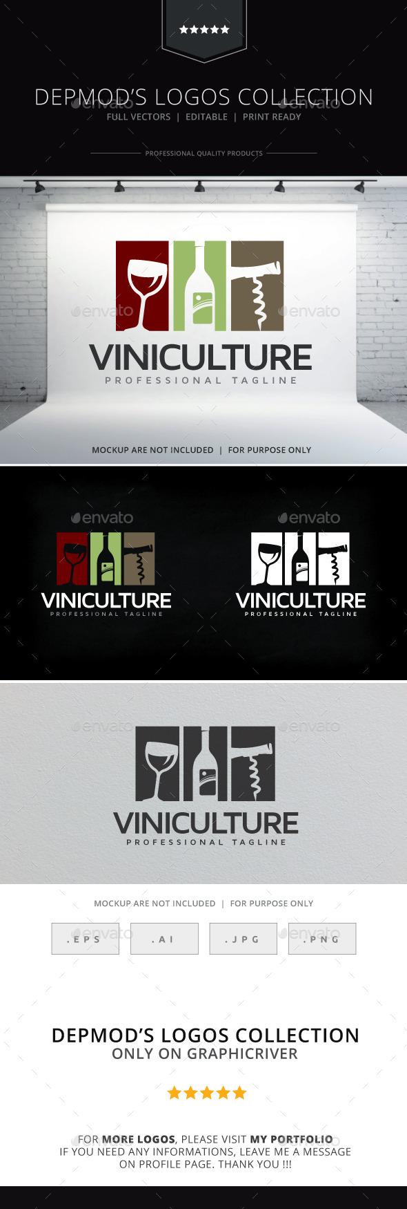 Viniculture Logo - Food Logo Templates