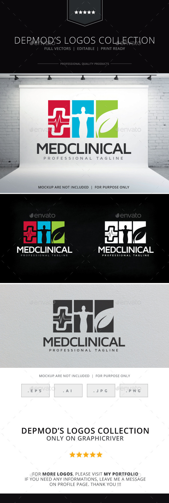 Med Clinical Logo - Humans Logo Templates