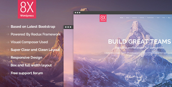 8X – Creative Multi-Purpose WordPress Theme