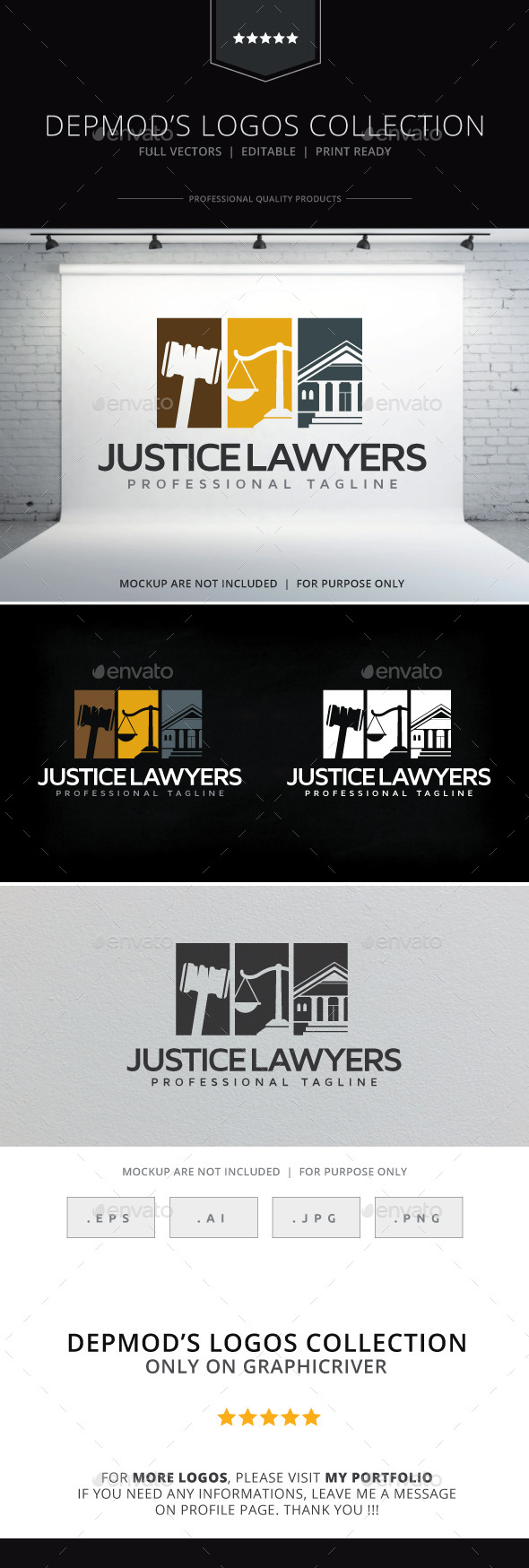 Justice Lawyers Logo - Objects Logo Templates
