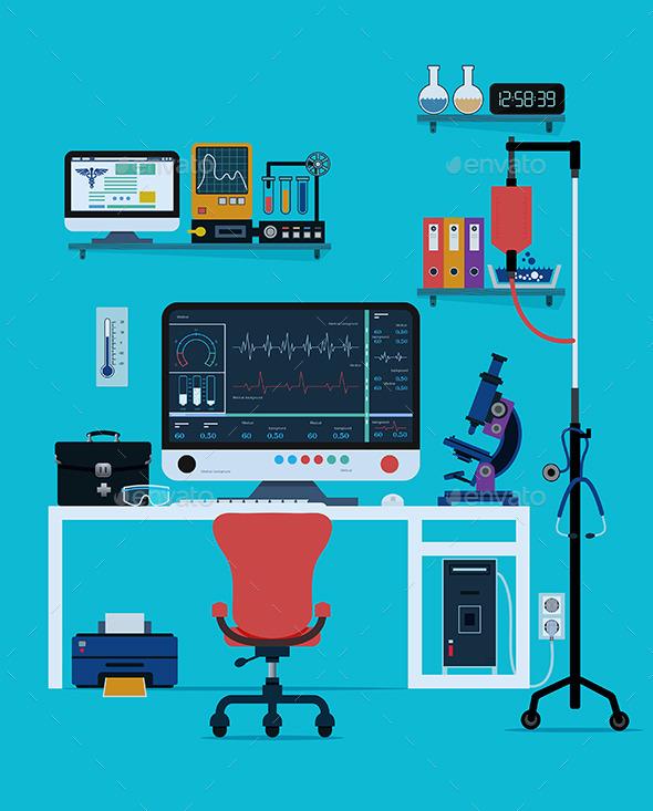 Medical Instruments - Health/Medicine Conceptual