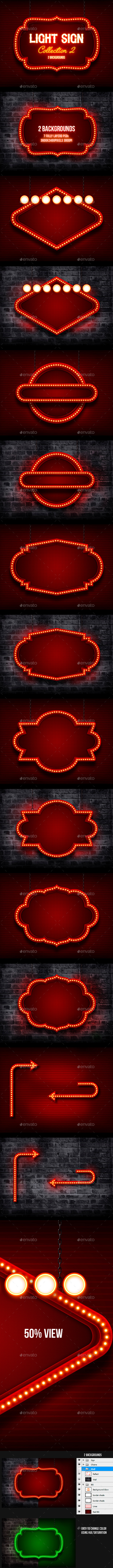 Light Sign 2 - Backgrounds Graphics
