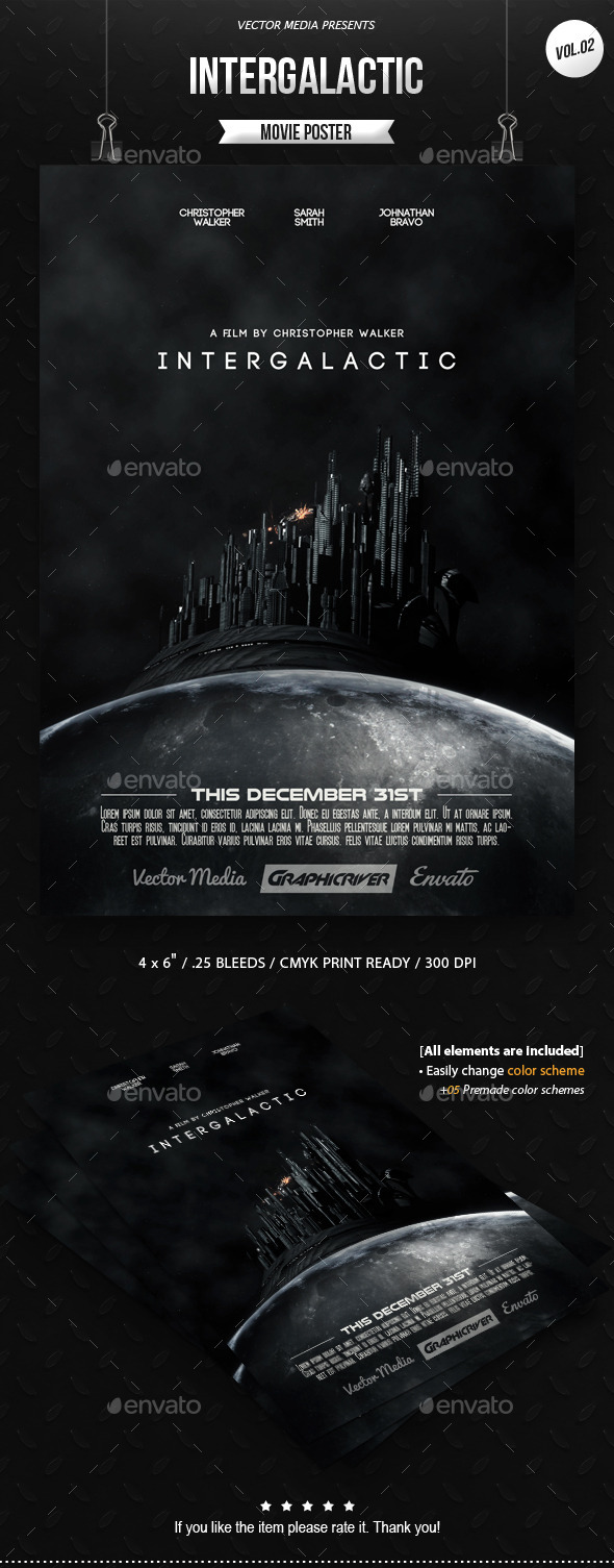 Intergalactic - Movie Poster [Vol.2] - Miscellaneous Events